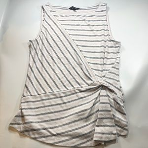 Banana Republic Sleeveless Stripped Top Small